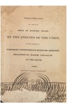 Proceedings of a Meeting Held at Bangor, Maine, by the Friends of the Union, on the Subject of Northern Interference with the Domestic Relations of Master and Slave at the South