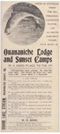 Pamphlet for Ouananiche Lodge and Sunset Camps, Grand Lake Stream, Washington County, Maine