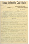 Bangor Automobile Club Bulletin