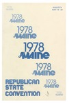 1978 Maine Republican State Convention Program by Maine Republican State Committee