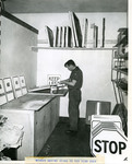 Worker Making Signs in New Sign Shop, ca. 1954