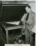 New Sign Machine Used in Adhering Scotchlite to Sign Blanks, ca. 1954