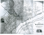 Map of Bangor and Brewer 1892