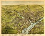 Bird's Eye View of the City of Bangor, Penonscot County, Maine, 1875 by Charles Shober & Co., Chicago, Lithographer