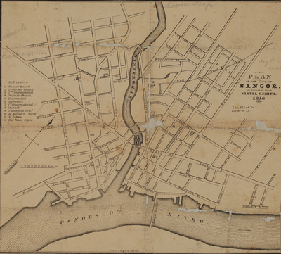 Plan of the City of Bangor, 1846