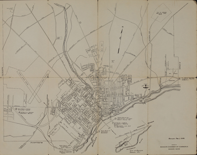 Map of Bangor, 1956
