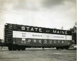 Red, White and Blue State of Maine Boxcar, ca. 1978