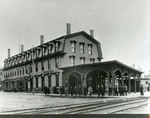 European & North American Railway Station and Platform, ca. 1900