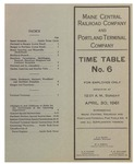 Maine Central Railroad and Portland Terminal Company Time Table No.6, April 1961