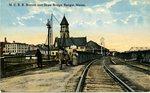 Maine Central Railroad Station and Drawbridge, ca. 1910