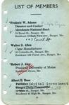 Membership Roster 1917