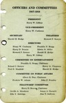 Membership Roster, Officers and Committees, 1938