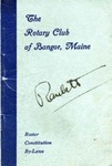 Rotary Club of Bangor Maine, Roster, Constitution, by-laws December 1943
