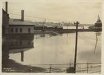 Train Leaving Flooded Union Station, Bangor, Maine, During Flood of 1902