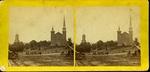 East Market Square, Universalist Church, Bangor, ca. 1870