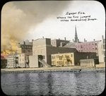 Downtown and Kenduskeag Stream during fire, Bangor, 1911 by Leyland Whipple