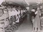Operators in the Bangor Telephone Exchange, 59 Park Street, Bangor, Maine, circa 1940