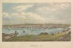 Bangor Maine Lithograph Published by Charles Magnus & Co. New York, circa 1860s