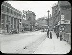 Hammond Street and Main Street viewed from Kenduskeag Stream Bridge, Bangor Maine Circa 1945
