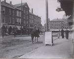 Lower Main Street at West Market Square, Bangor, Maine, Circa 1888-1893