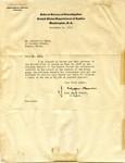 Letter from J. Edgar Hoover