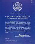 Executive Order 8802, Fair Employment Practice In Defense Industries