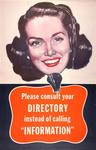 Please Consult Your Directory Instead of Calling Information