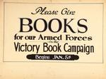 Please Give Books for Our Armed Forces