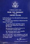 A Message About Food from the President of the United States