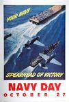 Navy Day, October 27, Your Navy Spearhead Of Victory by Joan Falter