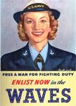 Free a Man For Fighting Duty, Enlist Now In the Waves