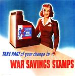 Take Part of Your Change in War Savings Stamps