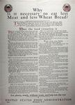 Why is it Necessary to Eat Less Meat and Less Wheat Bread?