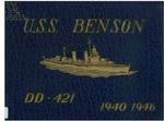 U.S.S. Benson DD-421 : 1940-1946 by United States Navy
