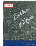 USO, five years of service: report of the president
